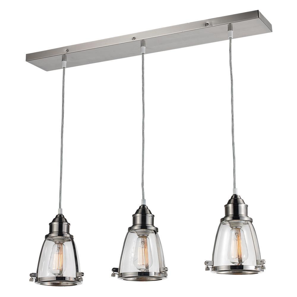 Bel Air Lighting Cabernet Collection 3-Light Brushed