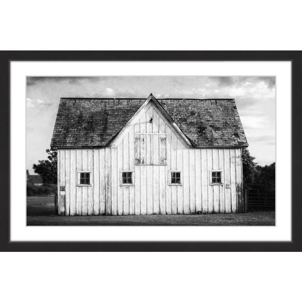 "MARMONT HILL 24 in. H x 36 in. W ""Grange Blanche"" by Framed Printed Wall Art, Multi-Colored"