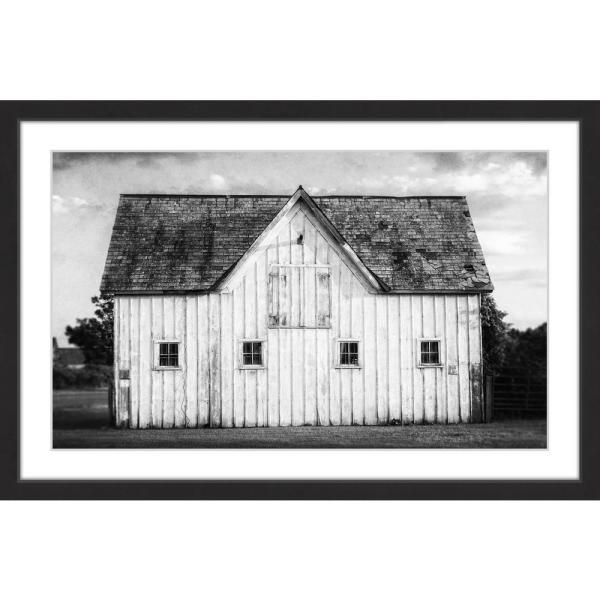 "undefined 24 in. H x 36 in. W ""Grange Blanche"" by Marmont Hill Framed Printed Wall Art"