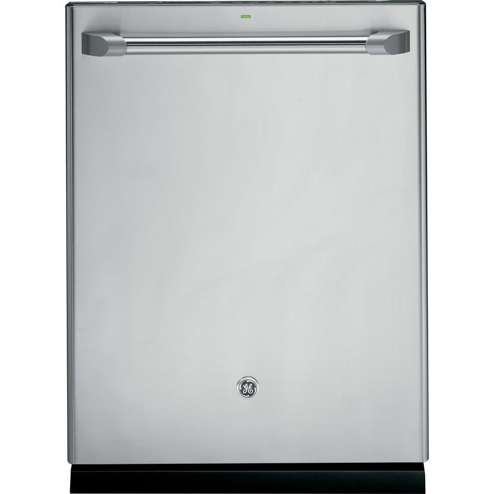 GE Cafe Top Control Dishwasher in Stainless Steel with Stainless Steel Tub and Steam Cleaning