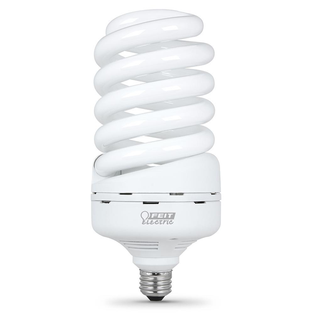 65-Watt Equivalent T5 Spiral Non-Dimmable E26 Base Compact Fluorescent CFL Light Bulb, Soft White 2700K