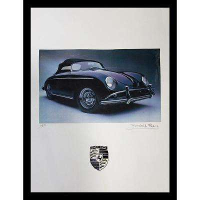 "24 in. x 18 in. ""Porsche"" by Fairchild Paris Car Series Print Ad Framed Wall Art"