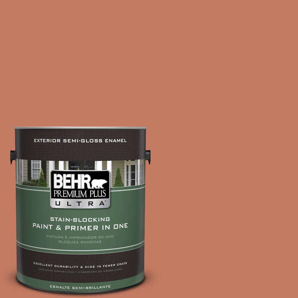 BEHR Premium Plus Ultra 1-gal. #220D-6 Miami Spice Semi-Gloss Enamel Exterior Paint