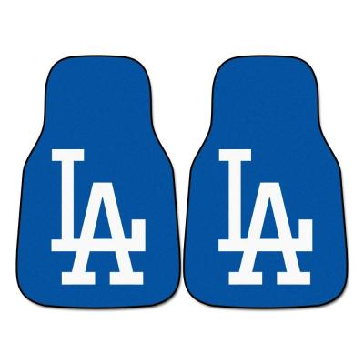 Los Angeles Dodgers 18 in. x 27 in. 2-Piece Carpeted Car Mat Set