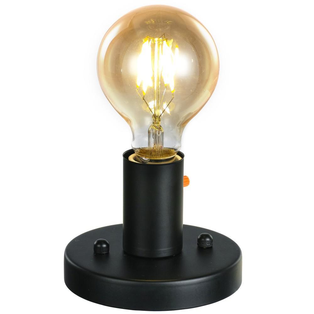 Ledpax Technology Prescott 1-Light Black Flush Mount Cylinder