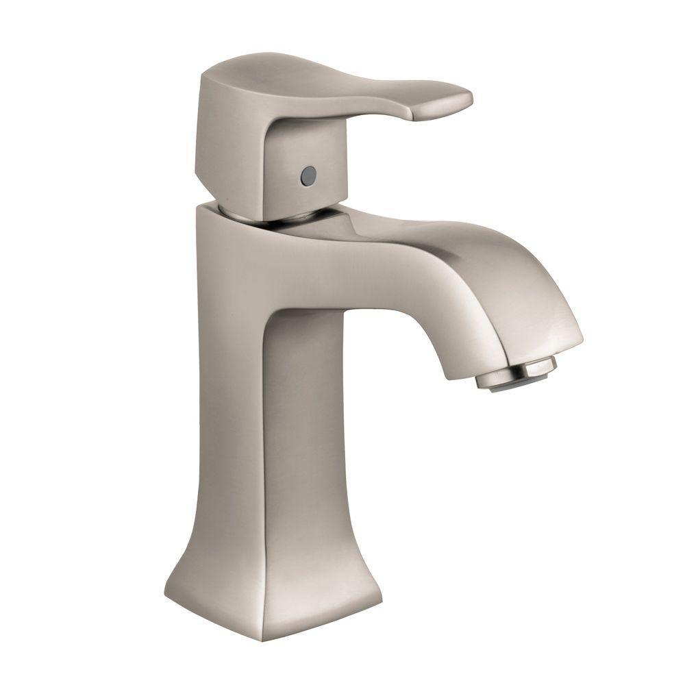 Metris C Single Hole 1-Handle Low-Arc Bathroom Faucet in Brushed Nickel