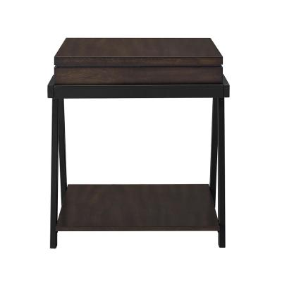 Artemis Contemporary Mocha End Table