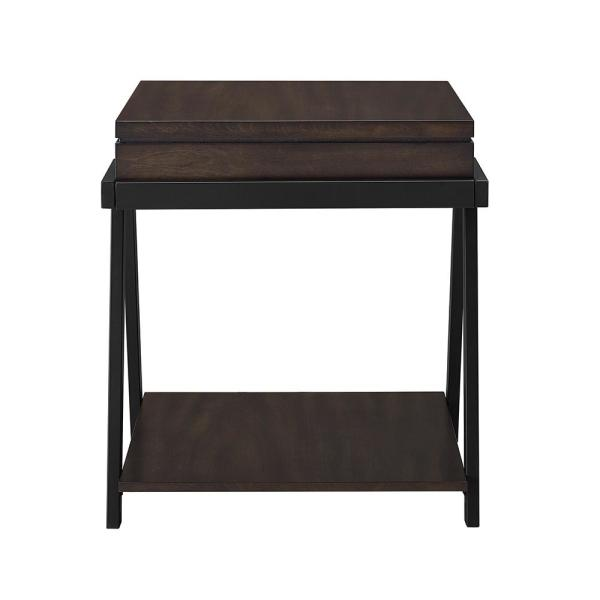 Super Artemis Contemporary Mocha End Table Home Interior And Landscaping Spoatsignezvosmurscom