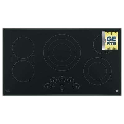 36 in. Radiant Electric Cooktop in Black with 5 Elements including Tri-Ring