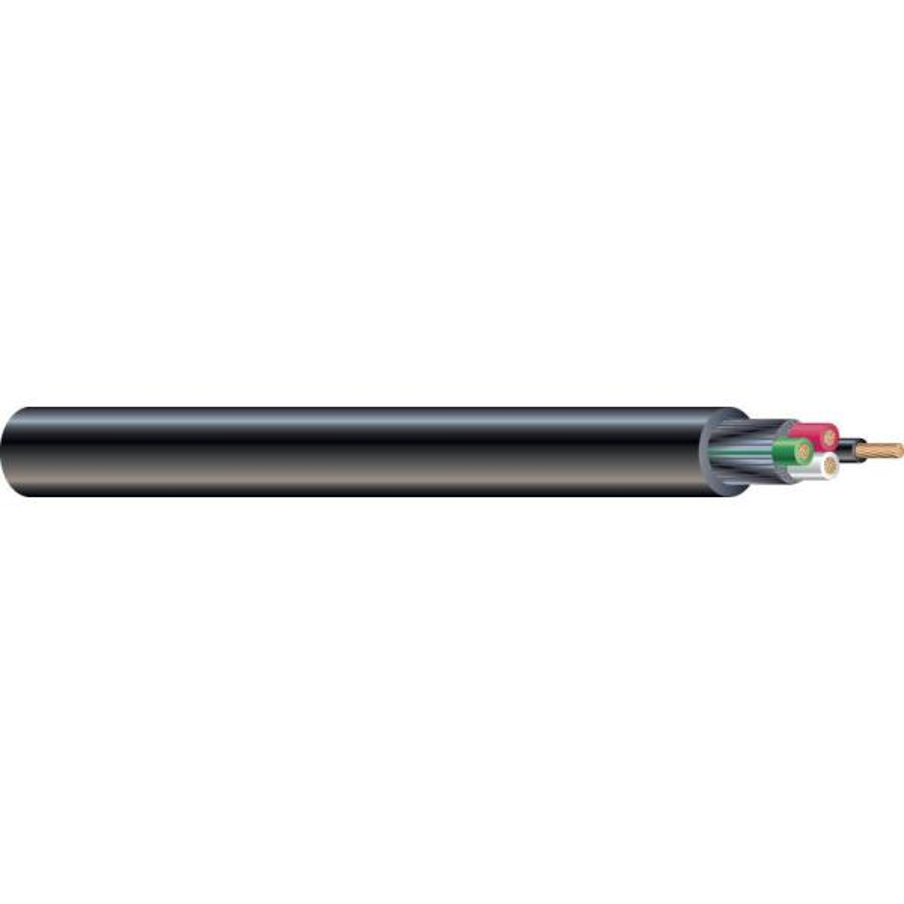 (By-the-Foot) 14/4 300-Volt CU Black Flexible Portable Power SJOOW Cord