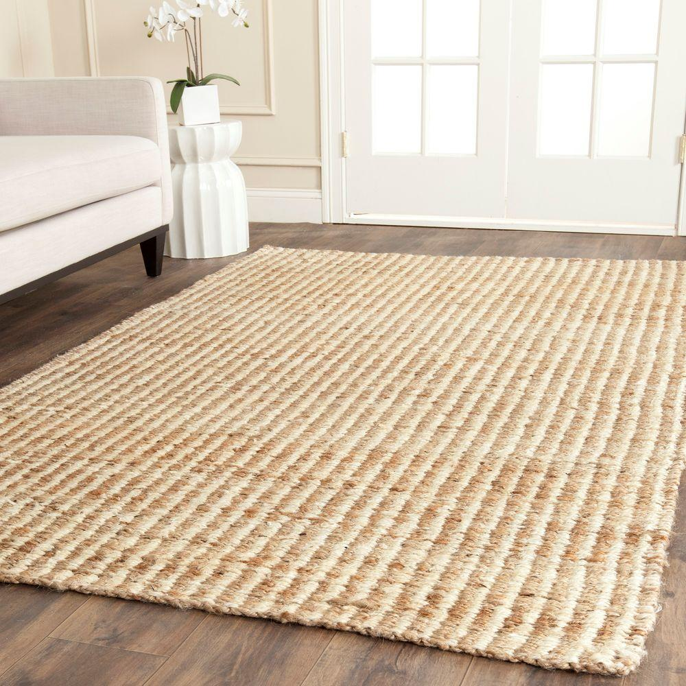 Natural Fiber Beige/Ivory 5 ft. x 8 ft. Area Rug