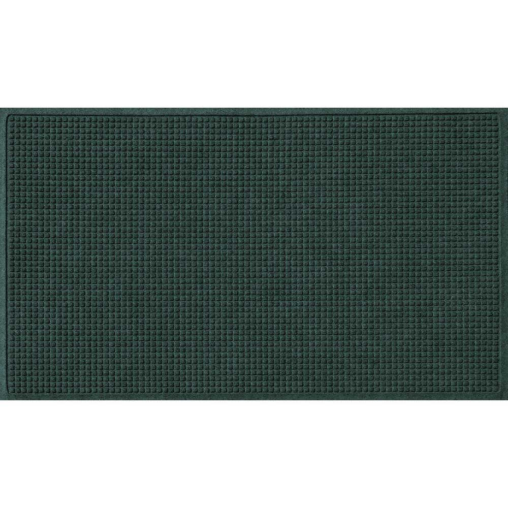 Evergreen 36 in. x 84 in. Squares Polypropylene Door Mat