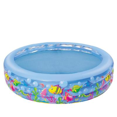 20 in. x 73 in. Sea Life Themed Round Inflatable Children's Swimming Pool