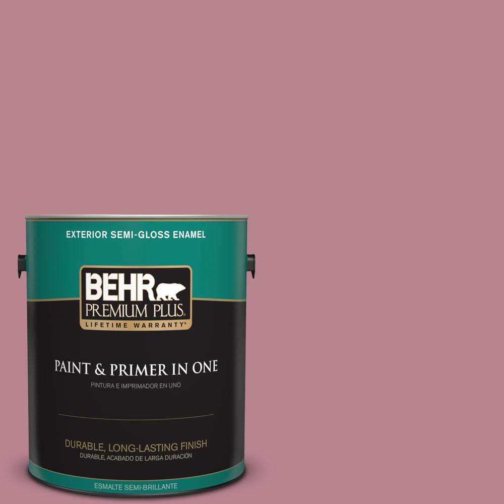 1-gal. #BIC-19 Berry Blush Semi-Gloss Enamel Exterior Paint