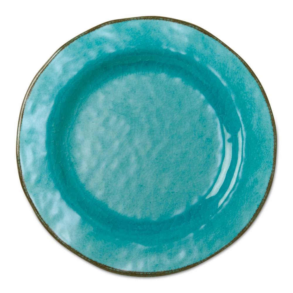 Melamine Veranda Salad Plates in Ocean Blue (Set of 4)  sc 1 st  Home Depot & Tag 9 in. Melamine Veranda Salad Plates in Ocean Blue (Set of 4 ...