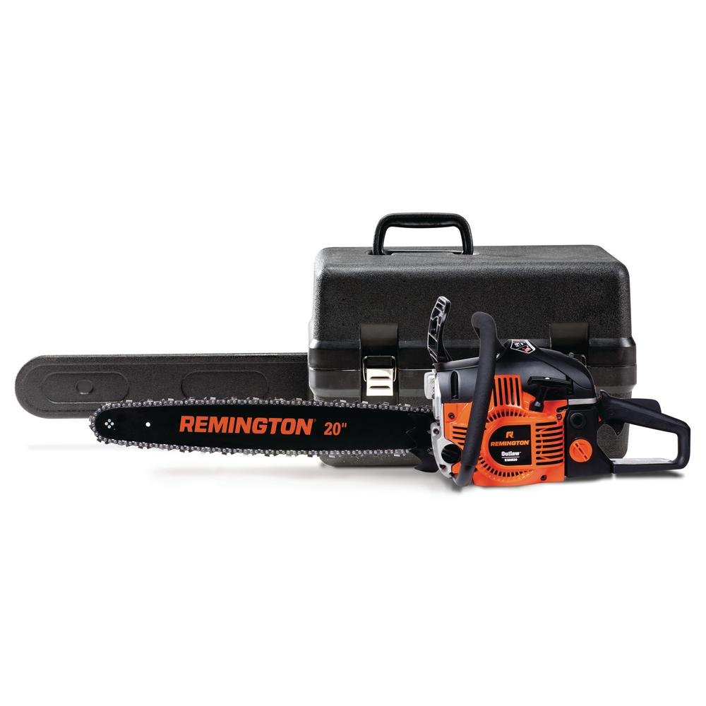 Remington Outlaw 20 in. 46 cc 2-Cycle Gas Chainsaw with Heavy-Duty Carry Case and Automatic Chain Oiler