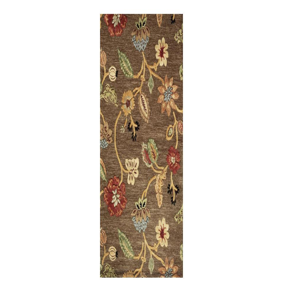 Portico Brown 2 ft. 9 in. x 14 ft. Runner