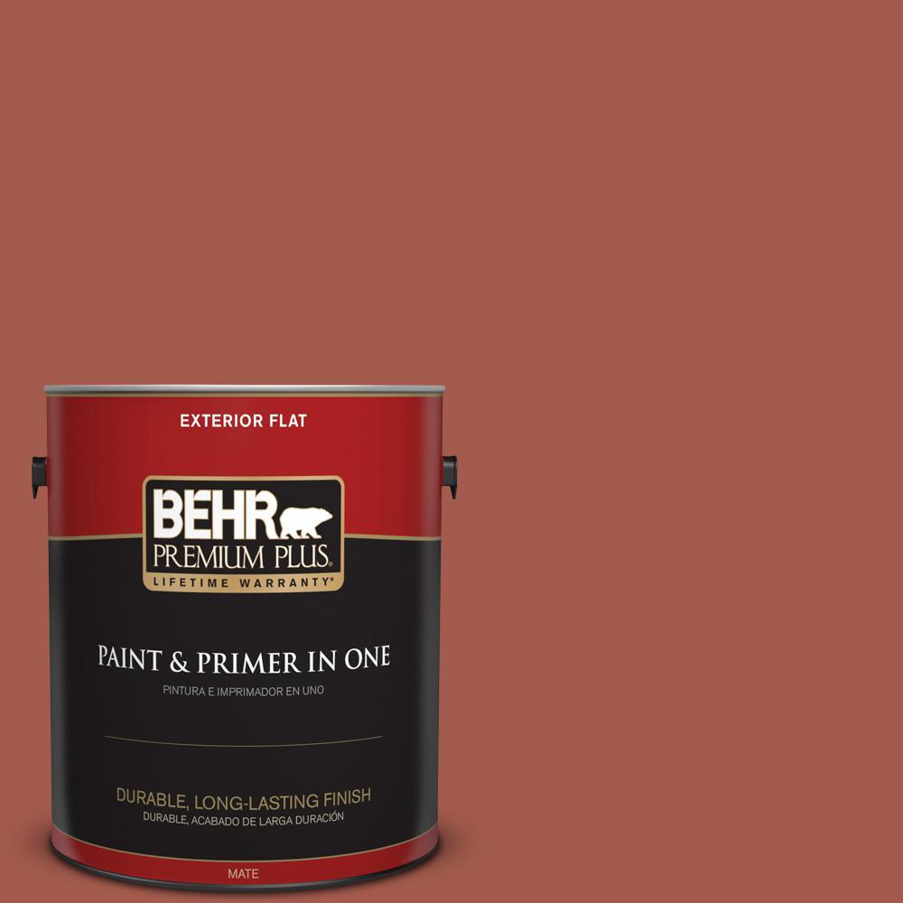 1 gal. #PPU2-15 Cajun Red Flat Exterior Paint