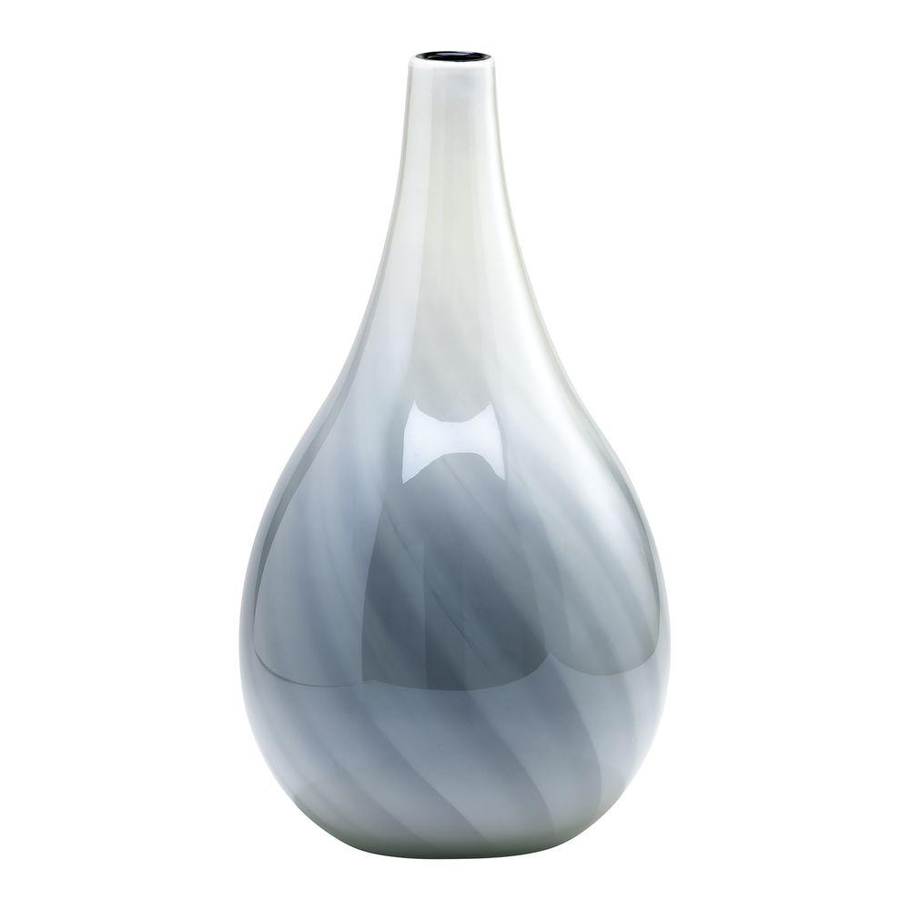 Filament Design Prospect 23.5 in. x 13.5 in. White And Smoked Vase