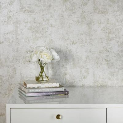 Distressed Gold Leaf Pearl Peel and Stick Wallpaper 28 sq. ft.