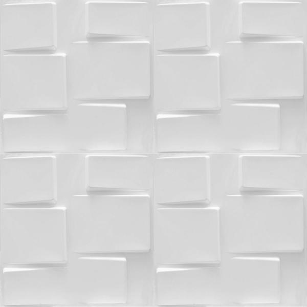 Luxorware 19 7 In X 1 In X 19 7 In White Pvc Fiber 3d Wall Panels 12 Pack Lw3d898 The Home Depot
