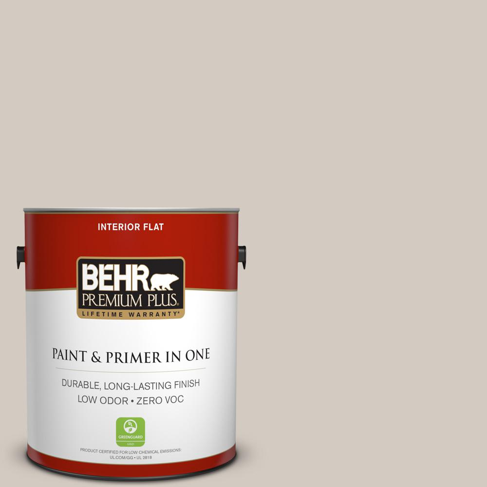 1 gal. #N320-2 Toasty Gray Flat Zero VOC Interior Paint and