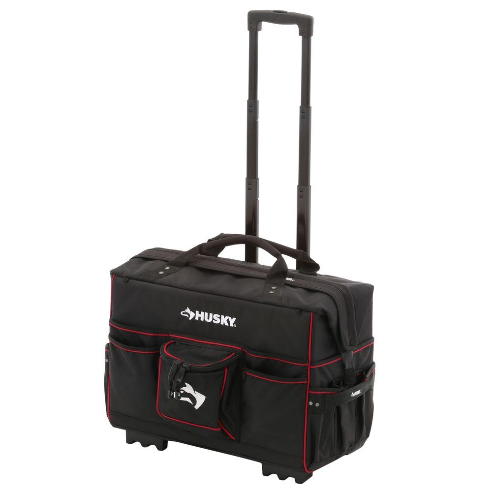 96f704d230b1 Husky 22 in. Pro Grade Rolling Tote Bag-GP-44449N13 - The Home Depot