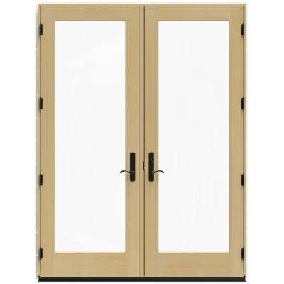71.25 in. x 95.5 in. W-4500 French Vanilla Left-Hand Inswing French Wood Patio Door