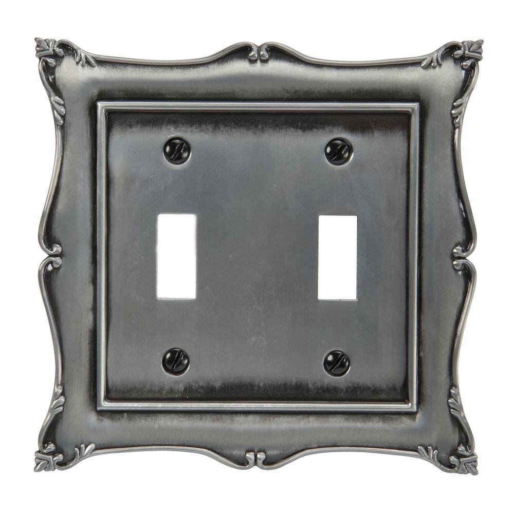 Amerelle Sophia 2 Toggle Wall Plate - Nickel
