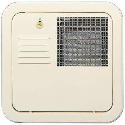 Flush Mount 6 Gallon Water Heater Door - Colonial White