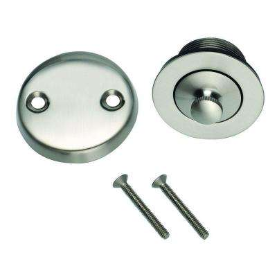 Lift and Turn Bath Drain in Satin Nickel