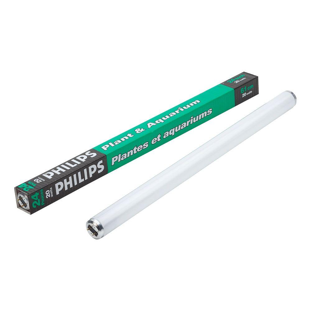 Philips 20 Watt T12 2 Ft Fluorescent Plant And Aquarium Grow Tube