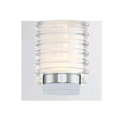 Ancona Collection 10-Watt Chrome Integrated LED Sconce