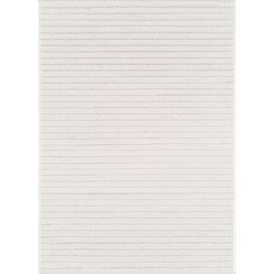 Mystique Barid White 7 ft. 10 in. x 10 ft. 6 in Area Rug