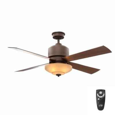 Alida 52 in. Indoor Oil-Rubbed Bronze Ceiling Fan with Light Kit and Remote Control