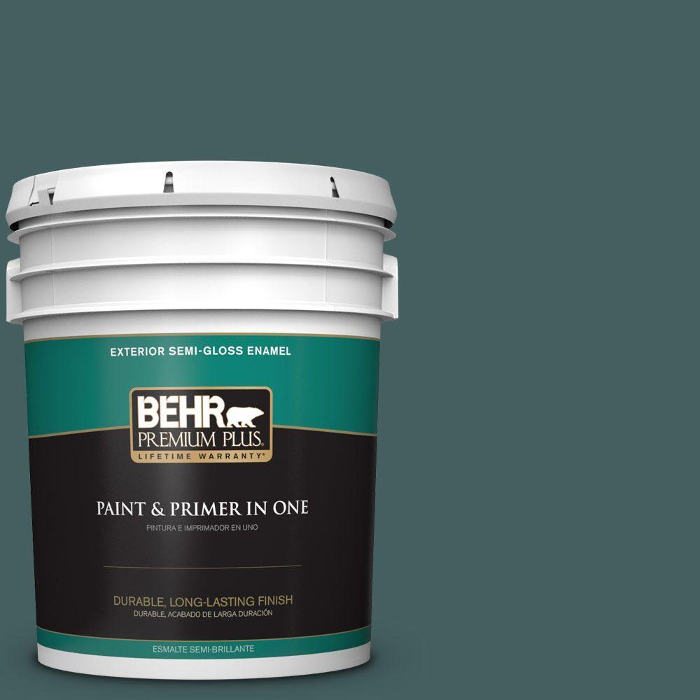 5-gal. #BXC-15 Green Mallard Semi-Gloss Enamel Exterior Paint