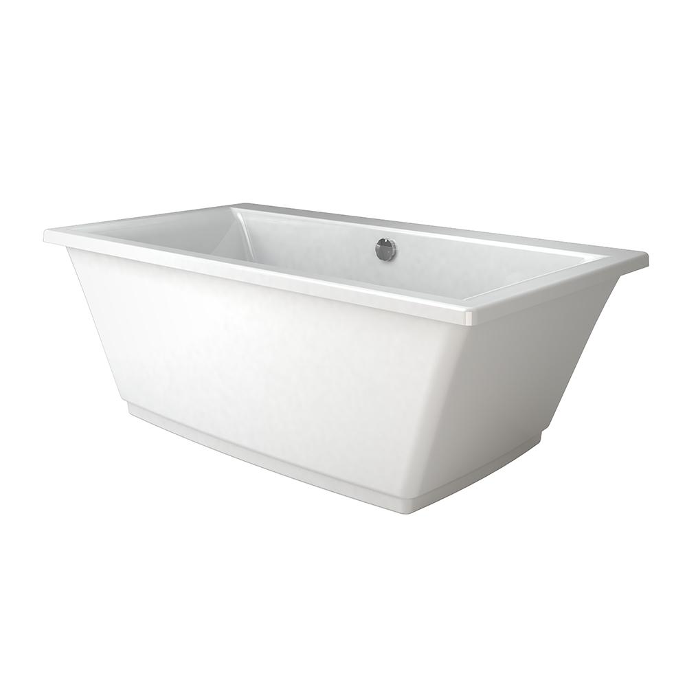 JACUZZI FIA 62 in. Freestanding Flatbottom Bathtub in White