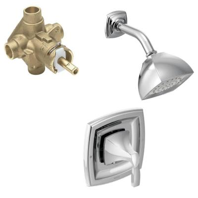 Voss Single-Handle 1-Spray Posi-Temp Shower Faucet Trim Kit with Valve in Chrome (Valve Included)