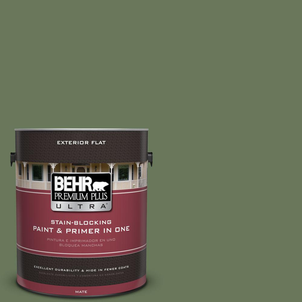 BEHR Premium Plus Ultra 1-Gal. #PPU10-1 Scallion Flat Exterior Paint