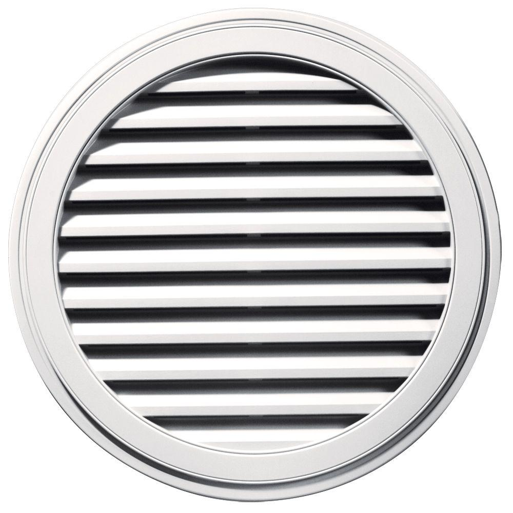 36 in. Round Gable Vent in Bright White