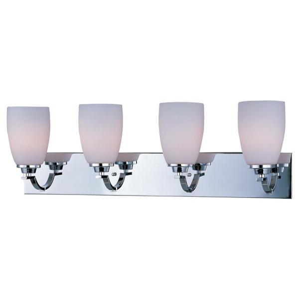 Rocco 30.75 in. Wide 4-Light Polished Chrome Vanity Light