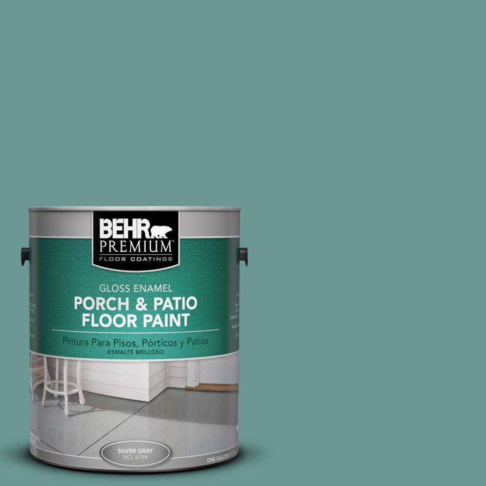 BEHR Premium 1 gal. #PFC-48 Aqua Marble Gloss Interior/Exterior Porch and Patio Floor Paint
