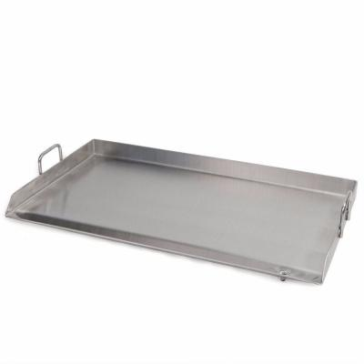 32 in. x 17 in. Stainless Steel Flat Top Grill Pan Double Burner Griddle
