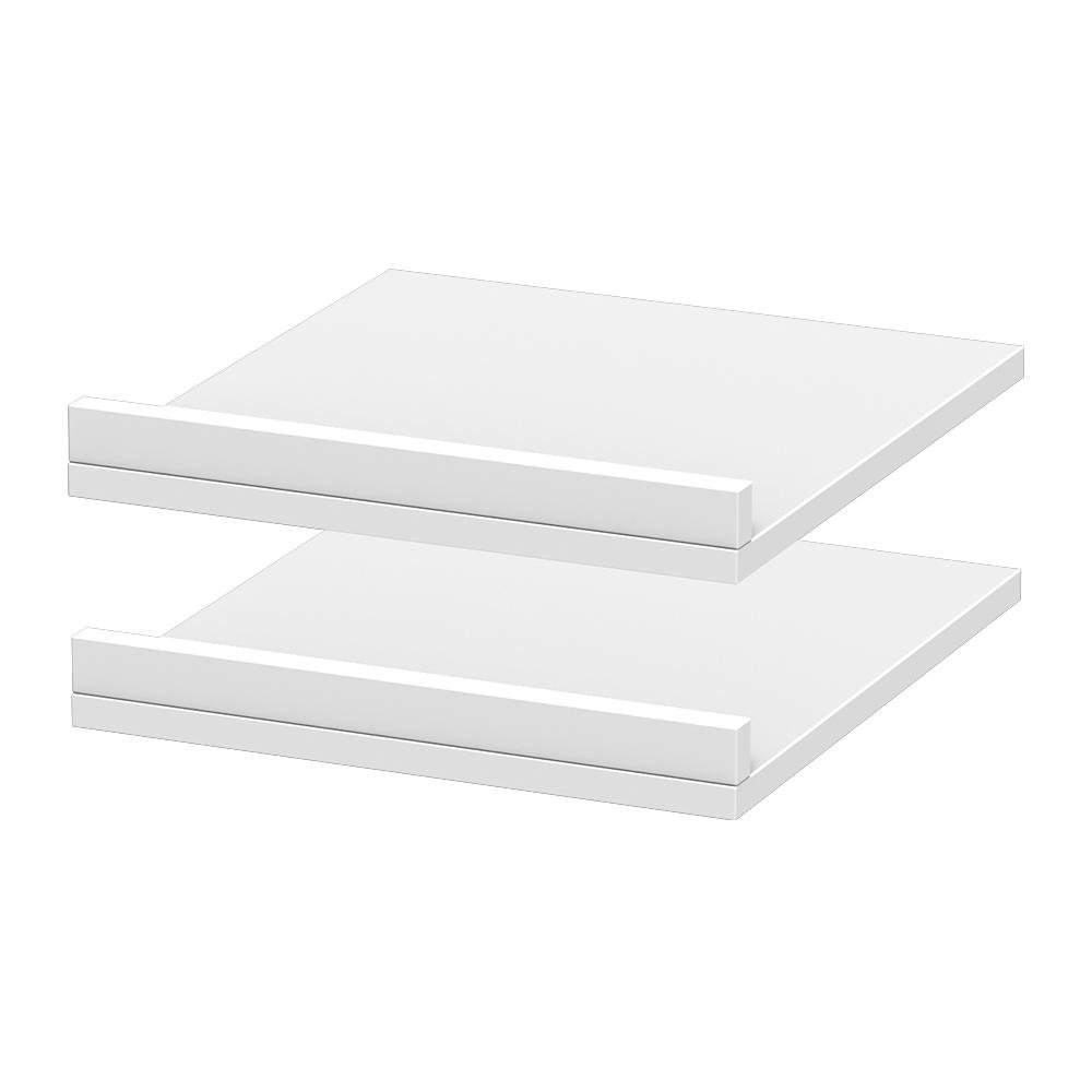 Modifi 15 in. x 3 in. Rollout Shelves Drawer with Fence in Polar White (2-Pack)