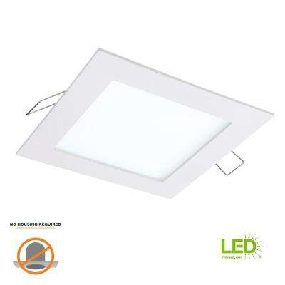 SMD-DM 4.85 in. Lens White Square Integrated LED Surface Mount Recessed Ceiling Light, 5000K Daylight (No Can Needed)