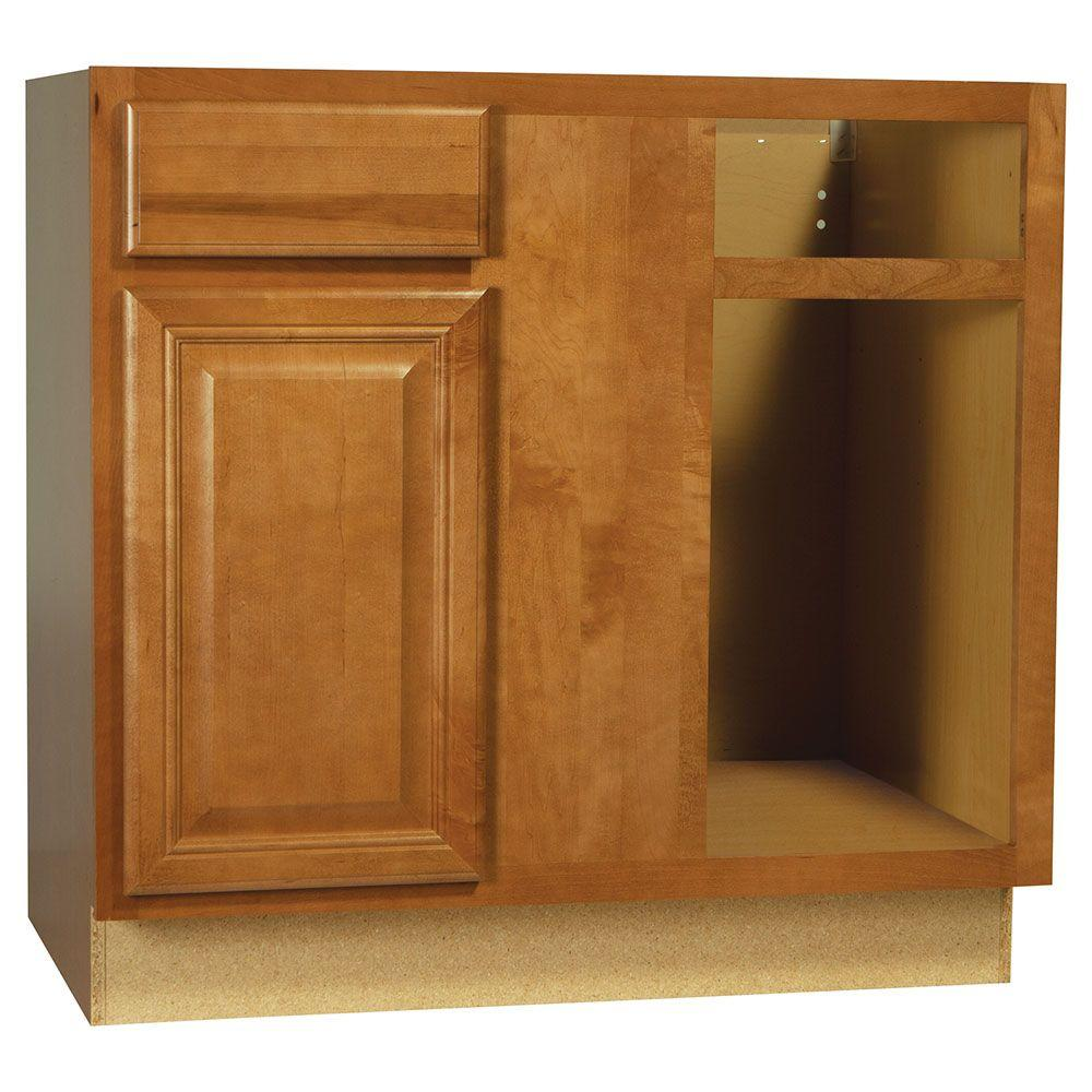 Hampton Bay Shaker Assembled 36x34.5x24 In. Farmhouse Apron-Front Sink Base Kitchen Cabinet In