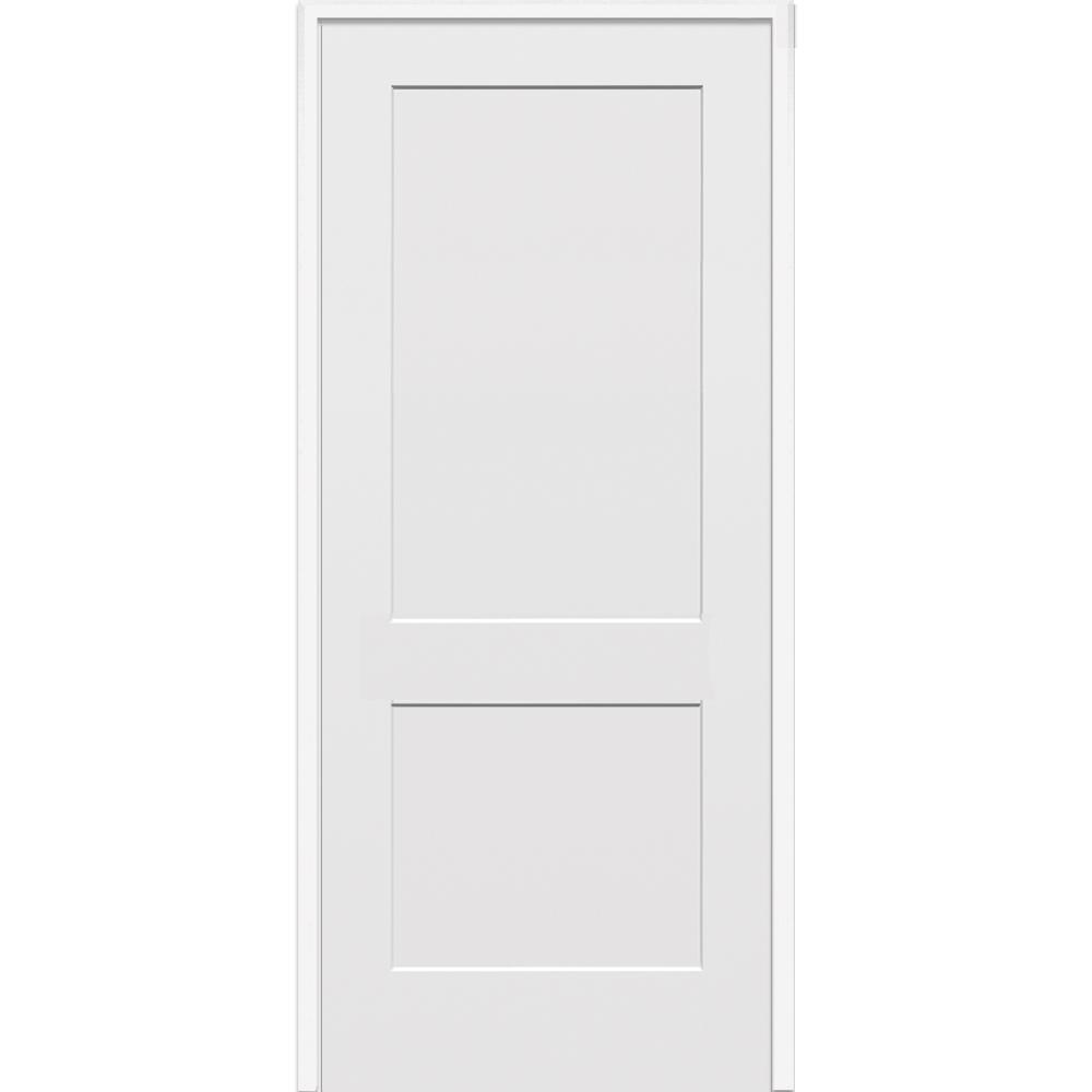 Mmi Door 33 5 In X In Primed 2 Panel Flat Single Interior Door Z022536l The Home Depot