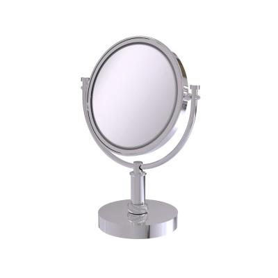 8 in. Vanity Top Makeup Mirror 4X Magnification in Polished Chrome