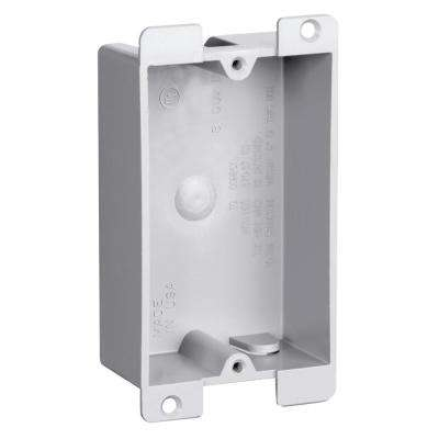 Slater Old Work Flange 1-Gang Shallow Plastic Switch and Outlet Box