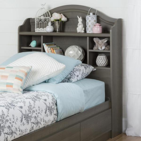 South Shore Savannah Gray Maple Twin Kids Headboard 10425